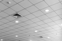 Lámpara fluorescente en techo Foto de archivo