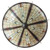 Lámpara grande del techo del art déco aislada en blanco Foto de archivo libre de regalías