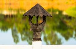Lámpara hecha de la madera 2 Foto de archivo