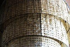 Lámpara hecha a mano de la luz de la ejecución de la decoración grande de la cáscara fotos de archivo