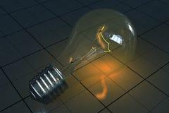 Lámpara incandescente Imagen de archivo libre de regalías