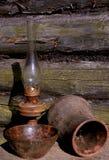 Lámpara, jarro y tazón de fuente de Betty Imagen de archivo libre de regalías