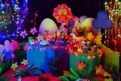Lámpara ligera con las muñecas Fotos de archivo libres de regalías