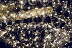 Lámpara ligera con los elementos esféricos de cristal del diseño de la lámpara moderna Foto de archivo