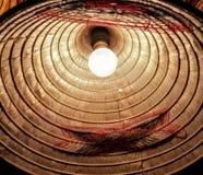 Lámpara ligera del yute Imagen de archivo libre de regalías