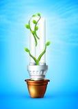 Lámpara luminosa del tubo stock de ilustración
