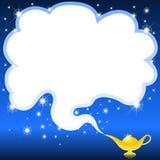 Lámpara mágica de los genios stock de ilustración