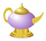 Lámpara mágica de oro del cuento de hadas Imagenes de archivo