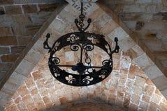 Lámpara negra del hierro labrado Imagen de archivo libre de regalías