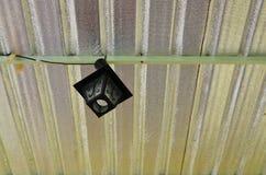 Lámpara negra en el techo Fotografía de archivo libre de regalías