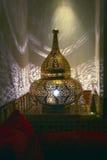 Lámpara oriental afiligranada, vista en Marruecos Foto de archivo