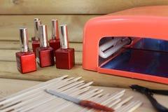 Lámpara para los clavos Imágenes de archivo libres de regalías
