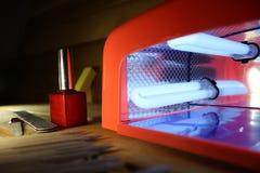 Lámpara para los clavos Fotografía de archivo libre de regalías