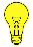 Lámpara que brilla intensamente Ilustración del Vector