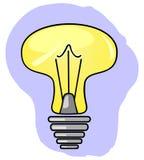 Lámpara que brilla intensamente amarilla Ilustración del Vector
