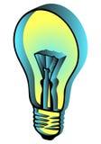 Lámpara que brilla intensamente (3d) Ilustración del Vector