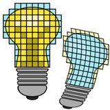 Lámpara que brilla intensamente 3d (mosaico) Ilustración del Vector