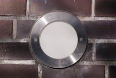 Lámpara redonda incorporada Imágenes de archivo libres de regalías