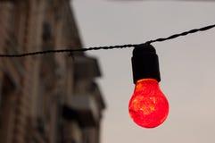 Lámpara roja Imágenes de archivo libres de regalías