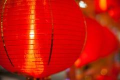 Lámpara roja china Fotos de archivo