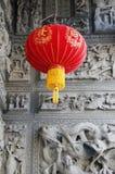 Lámpara roja del estilo chino Fotografía de archivo libre de regalías