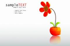 Lámpara roja plástica de la flor Foto de archivo