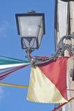 Lámpara siciliana del indicador y de calle imagen de archivo libre de regalías