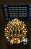 Lámpara, terminal de Grand Central, Nueva York Foto de archivo libre de regalías