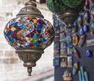 Lámpara turca hecha a mano del vidrio de mosaico Fotos de archivo