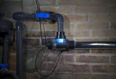 Lámpara ULTRAVIOLETA, sistema del fitration de la piscina Imagenes de archivo