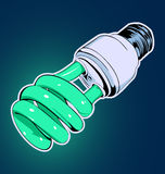 Lámpara verde stock de ilustración