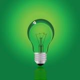Lámpara verde ilustración del vector