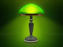 Lámpara verde de la vendimia Foto de archivo
