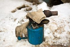 Lámpara vieja de la antorcha imágenes de archivo libres de regalías