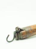 Lámpara vieja de la manija aislada en la tabla Fotos de archivo libres de regalías