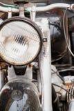 Lámpara vieja de la motocicleta Foto de archivo libre de regalías