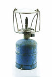 Lámpara vieja o del vintage de huracán en el fondo blanco, corrosión material del material de la lámpara Fotos de archivo libres de regalías