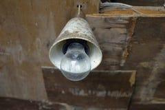 Lámpara vieja sucia Imágenes de archivo libres de regalías
