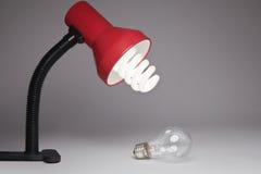 Lámpara y bulbo Imagenes de archivo