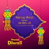 Lámpara y diya del kandil de la ejecución para el anuncio de la promoción de venta de la decoración de Diwali