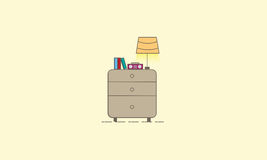 Lámpara y libro Fotografía de archivo libre de regalías