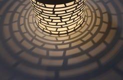 Lámpara y sombra Imagen de archivo