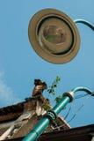 Lámpara y tejado de calle Imagen de archivo libre de regalías