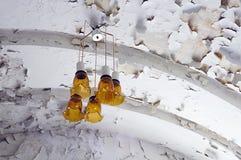 Lámparas amarillas Foto de archivo libre de regalías
