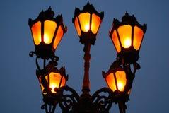 Lámparas anaranjadas Fotos de archivo