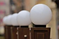 Lámparas blancas Fotos de archivo