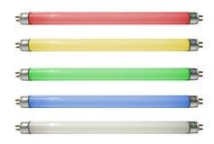 Lámparas coloreadas foto de archivo libre de regalías