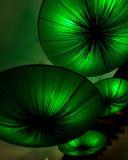 Lámparas como forma verde del loto Fotografía de archivo libre de regalías