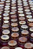 lámparas con las luces de la vela Foto de archivo