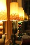 Lámparas conceptuales de las frutas y verdura Foto de archivo libre de regalías